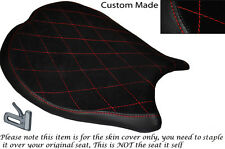 RED DIAMOND STITCH DESIGN CUSTOM FITS DUCATI 1198 848 1098 FRONT SEAT COVER