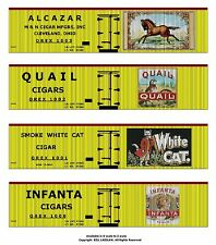 Tobacco Road all 36 boxcars, O scale printed reefer sides