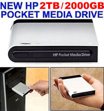 NEW HP 2TB / 2000GB POCKET MEDIA DRIVE USB EXTERNAL 2 YEAR WARRANTY  MSRP $799+