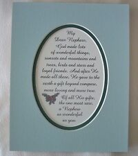 NEPHEW Loyal GOD MADE Family FRIENDS Love Special GIFT Rare verses poems plaques