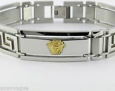 Bracelet 316L Stainless Steel 18K Gold Medusa Head Greek Design
