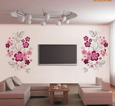 DIY Removable Wall Stickers Home Decor Decal Mural Room Paper Art Black Flower