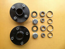 4 STUD GEMINI HUBS WITH HOLDEN  BEARING KITS TRAILER HUBS! Trailer Parts!