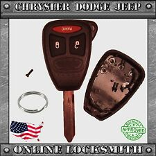 New Remote Key Replacement Case Shell + 3 Button Chrysler Dodge Jeep OHT692427AA