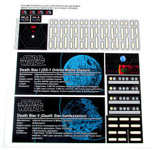 CUSTOM STICKERS for STAR WARS Lego 10188 75159 DEATH STAR +DS1/DS2 PLAQUE BONUS