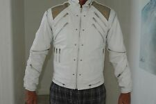 RARE White Original J Park Leather Michael Jackson BEAT IT Jacket