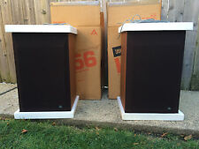 PAIR OF VINTAGE JBL L56 SPEAKERS SPEAKER WALNUT CASE Original boxes
