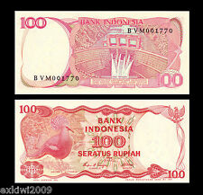 Indonesia 100 Rupiah 1984 P-122b Mint UNC Uncirculated Banknotes