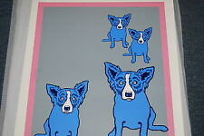 George Rodrigue Blue Dog Series IX Rare Silkscreen Print Signed Numbered Artwork