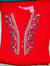 1 Womens Thermal Plussize Red 2xl  Queensize Winter Tops XXL