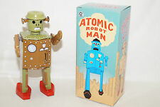 ATOMIC ROBOT MAN mechanical Astronaut Space TIN TOY China Blechspielzeug