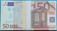 A bundle of 100 Pcs China Bank Staff  50 Euros Training Banknotes Paper Money