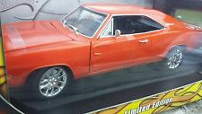Hot Wheels 1969 Dodge Charger modified 1:18 Orange with ghost flames NEW