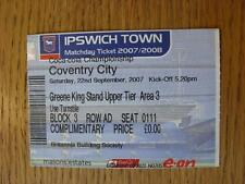 22/09/2007 Ticket: Ipswich Town v Coventry City