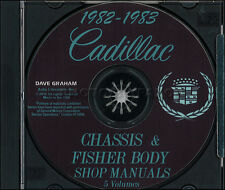 1982-1983 Cadillac CD Shop Manual Body Manual Deville Eldorado Seville Fleetwood