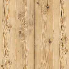 Beige Brown Wood Wallpaper Self Adhesive Decorative Contact Paper Wall Sticker