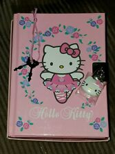 Sanrio Hello Kitty Diary Locking Journal Pink 2001
