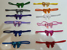 5 x BABY/TODDLER GIRL HANDMADE SMALL BOW SEQUINS HEADBAND HAIRBAND SOFT ELASTIC