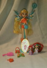 VHTF Mattel Winx Club Pixie Magic Stella doll W/Pixie Friend Amore!!