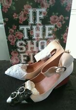Jeffrey campbell 8 taupe leather multi bow shoes NEW