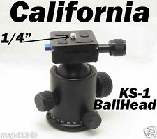 Professional Camera KS-1 Tripod Ballhead with Quick Release Plate Ball Head KS1