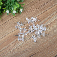 Set 100pcs Transparent Push Pins Drawing Pins Notice Cork Board Pins Thumb Tacks