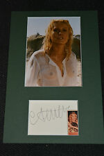 CATHERINE DENEUVE signed Autogramm 20x30 In Person Passepartout NACKT