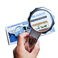About 6X Illuminated Pocket Magnifier with LED Light Magnifying Glass