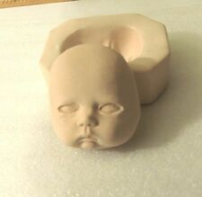 one (1 )PUSH MOLD cheeky pouty baby face #4 must inset glass eyes yourself