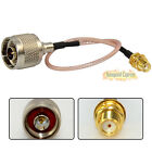 RG316 SMA Female Plug to N Male With Nut Straight RF Coaxial Pigtail Cable 20cm