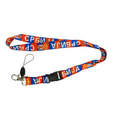 SERBIA COUNTRY FLAG LANYARD KEYCHAIN PASSHOLDER .. NEW