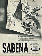 PUBLICITE ADVERTISING 084  1961  SABENA   compagnie aérienne Belge