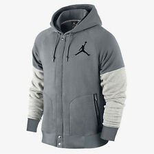 NEW Men's Jordan by Nike Varsity Hoodie Jacket Size: Small Color: Gray/White