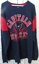 NHL Washington Capitals Mens Long Sleeve Mens Shirt XXL EUC