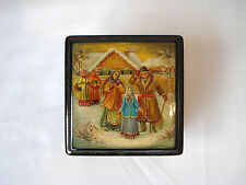 Fedoskino Russian Hand Painted Papier Mache Lacquer Box Made in Russia