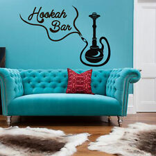 Wall Decal Sticker Hookah Hooka Shisha Lounge Relax Inscription Bar Hause M1581