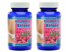 2 BOT RASPBERRY KETONE LEAN Advanced Fat Weight Loss 1200MG 60 CAPS MaritzMayer