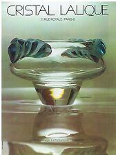PUBLICITE ADVERTISING 044 1973 Cristal LALIQUE coupe Persépolis