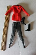 "1/6 Scale Star Trek female Uniform with boots for 11 or 12"" inch doll or figure"