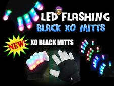 NEW! XO Black Magic Mitts MultiColor LEDs Flashing Gloves  Raver Party Dance FUN