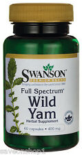 Wild Yam Full Spectrum 400mg 60 capsules | Swanson Health Products Vitamins