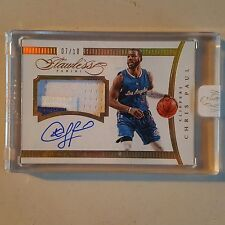 2014-15 panini flawless chris paul one patch auto gold 7/10