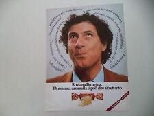 advertising Pubblicità 1981 CARAMELLE ROSSANA PERUGINA