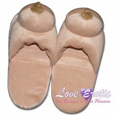 Adult Novelty Boobs Boobie Breast Soft House Slippers Naughty Fun Free Delivery