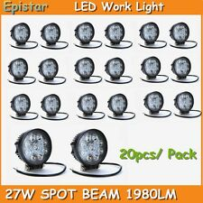 20X 27W SPOT LED Off road Work Light Lamp 12V 24V Car Boat Truck Driving Jeep US