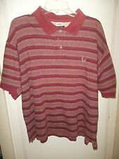 Givenchy Polo Shirt Large Cotton Burgandy White