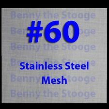 "12""x12""  60 MESH / 250 MICRON WIRE MESH 316 STAINLESS STEEL"