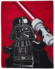 Lego Star Wars Fleece Blanket Kids Throw Over Disney Darth Vader Light Saber