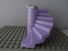 LEGO LAVENDER SPIRAL STAIRCASE 8 STEPS LIGHT GREY TOP & BASE PLATE  (40243)