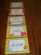 5 Laminated Farm themed Behavior Clip Chart Cards.  Classroom Accessories.